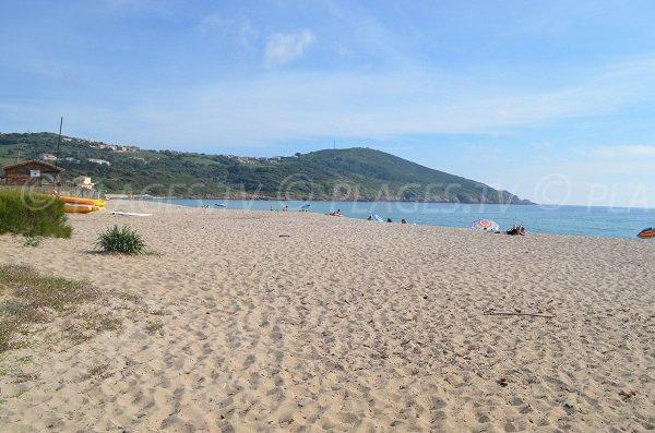 Beach in the gulf of Pero in Corsica