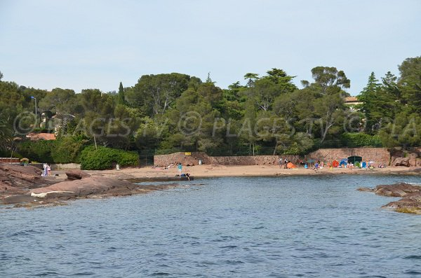 Pescade beach in Saint Raphael in France