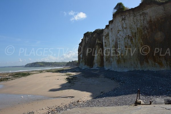 Petit Ailly beach in Varengeville - Normandy