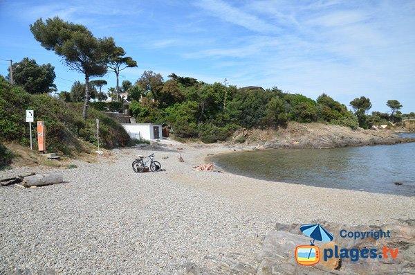 Vista globale sulla spiaggia del Petit Boucharel