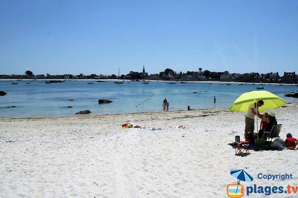 Foto della spiaggia del Petit Nice a Brignogan - Bretagna