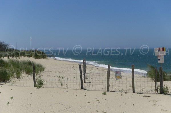 Plage du Petit Nice à La Teste proche de la dune du Pilat