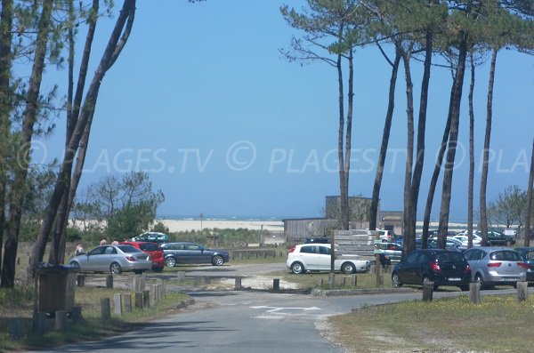 Parking gratuit de la plage du Petit Nice à Pyla sur Mer