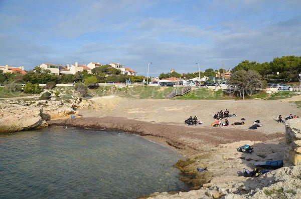 Photo of Petit Nid beach in Sausset - Blue coast