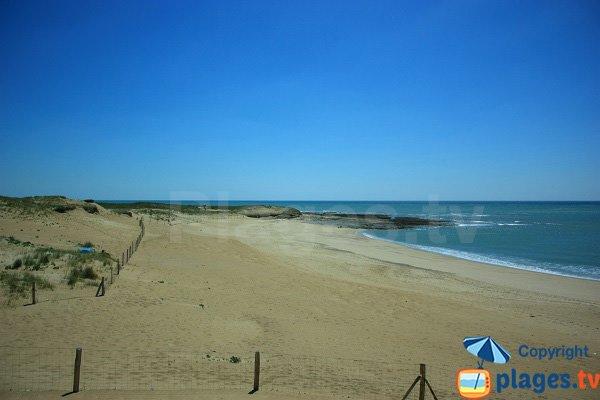 Photo de la plage naturiste de Brétignolles sur Mer