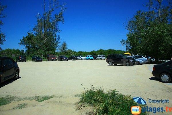 Parking de la plage du Petit Pont entre St Gilles Croix de Vie et Brétignolles
