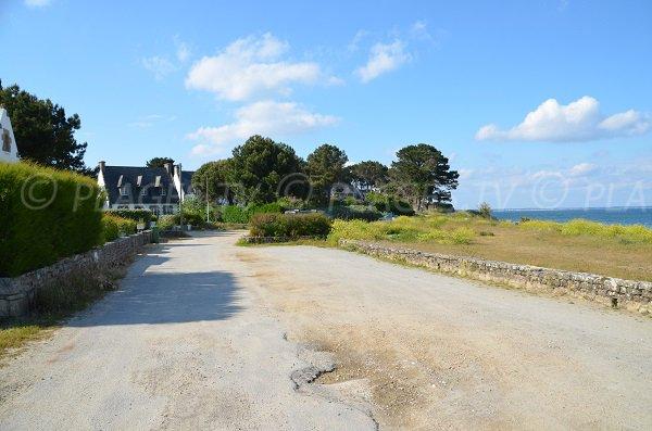 Parking of Petit Rohu beach (St Pierre Quiberon)