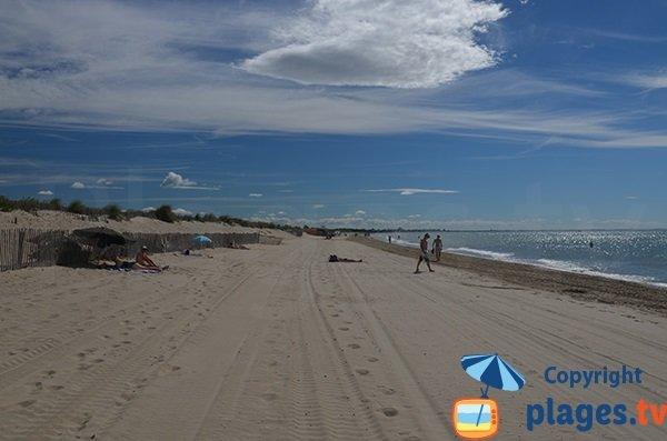 Photo de la plage entre Carnon et La Grande Motte
