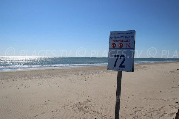 Spiaggia Petit Travers - accesso 72 - Carnon