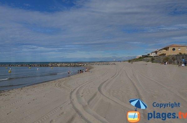 spiaggia sorvegliata a Carnon - Petit Travers - accesso 79