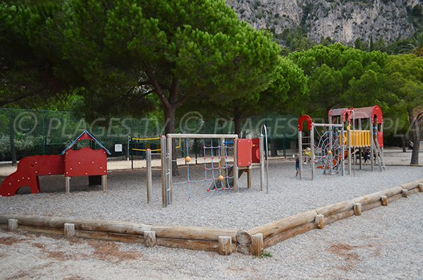 game area for kids in Beaulieu sur Mer near the beach