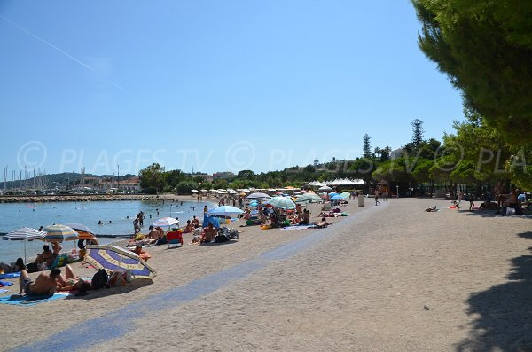 Shade beach in Beaulieu sur Mer