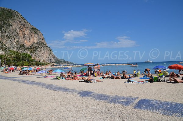 Largest beach in Beaulieu sur Mer