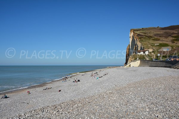 Petites Dalles beach in Normandy
