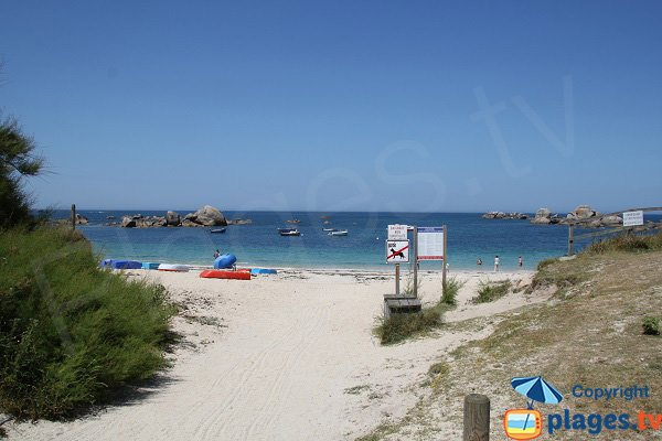 Beach near the campsite of Brignogan