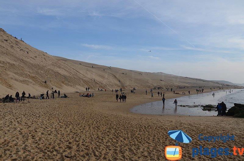 Plage au pied de la Dune de Pyla