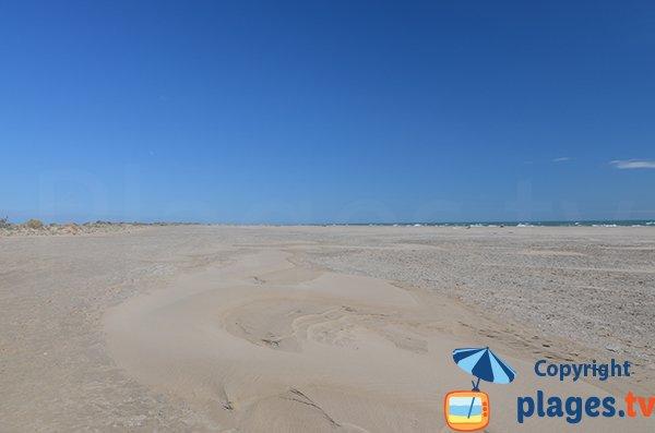 Grande plage naturiste de Piémanson