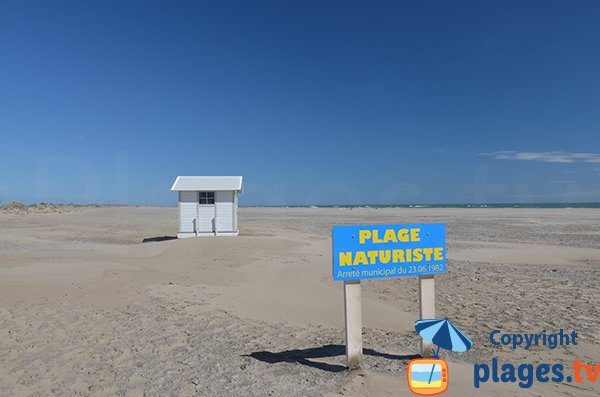 Nudist beach in Piemanson - Camargue - France