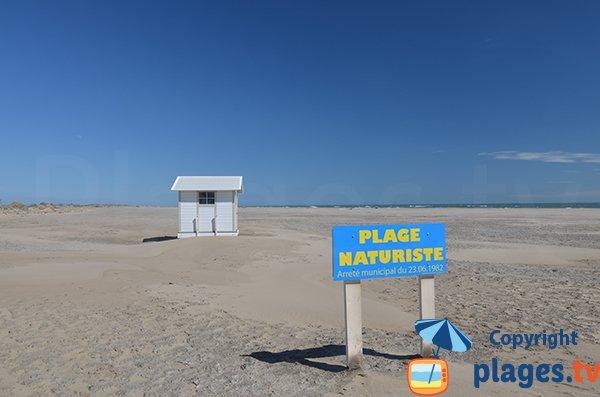 Nudist beach in Piemanson - Camargue - France