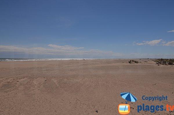 Photo de la plage de Piémanson à Salin de Giraud