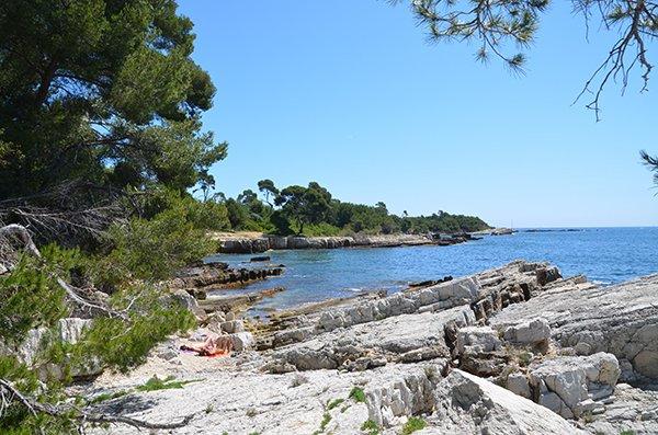 Nudist beach on Lerins island - France