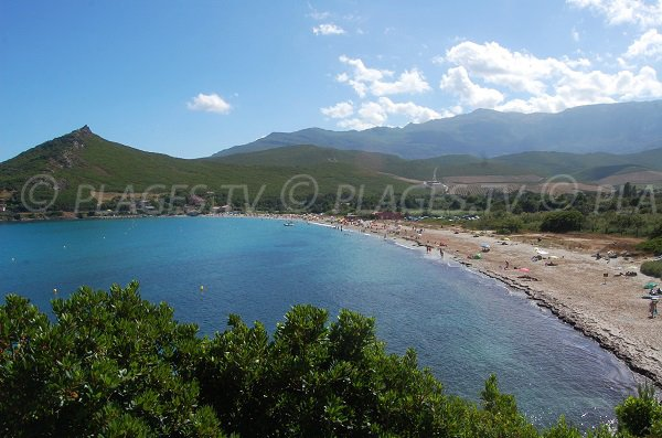 Overview of Pietracorbara beach - Corsica