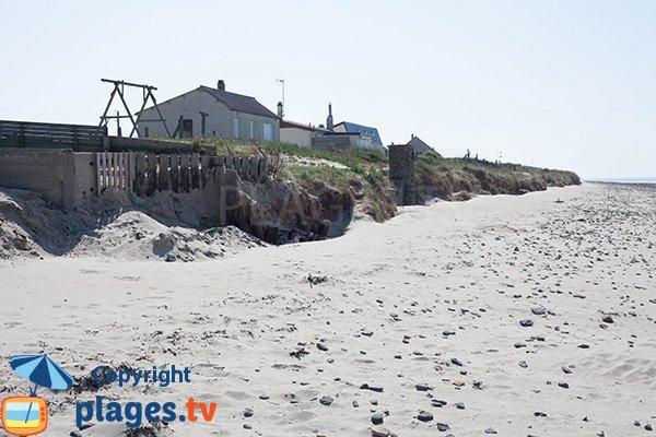 Maisons sur la plage de Bretteville sur Ay