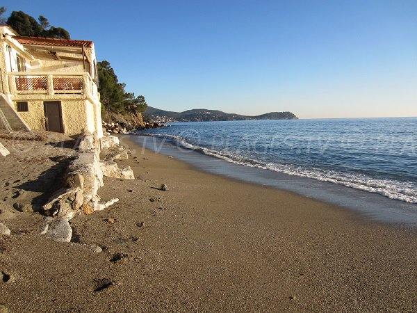 Sand beach in Le Pradet