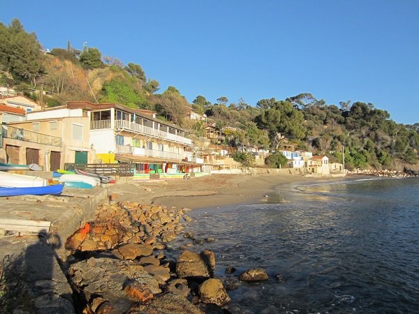 Typical beach in Le Pradet