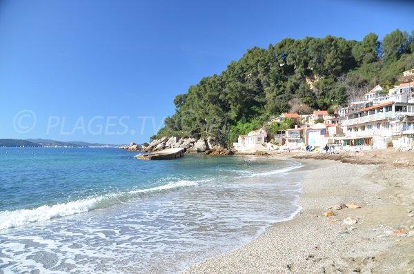 Vue sur la rade de Toulon depuis la plage Pin de Galle - Le Pradet