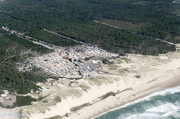 Photo aérienne de la plage du Pin Sec à Naujac