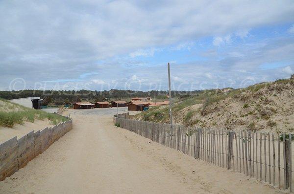 Vue sur le village du Pin Sec depuis le sommet de la dune