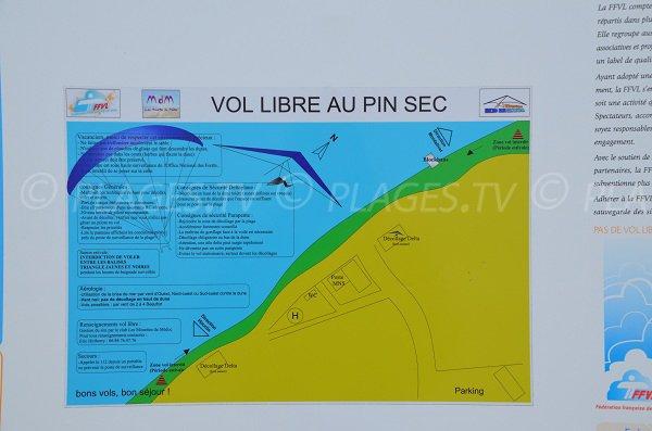 Vol libre sur la dune du Pin Sec de Naujac sur Mer