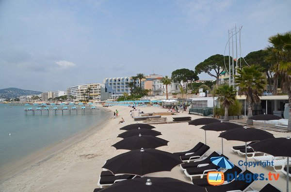 Beach in Juan les Pins in the Casino area