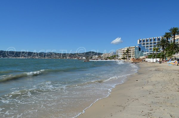 Photo of the Pinede beach of Juan les Pins