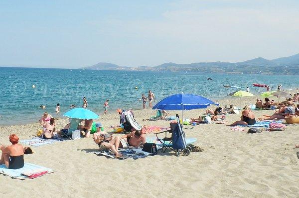 Photo de la plage des Pins à Argelès sur Mer