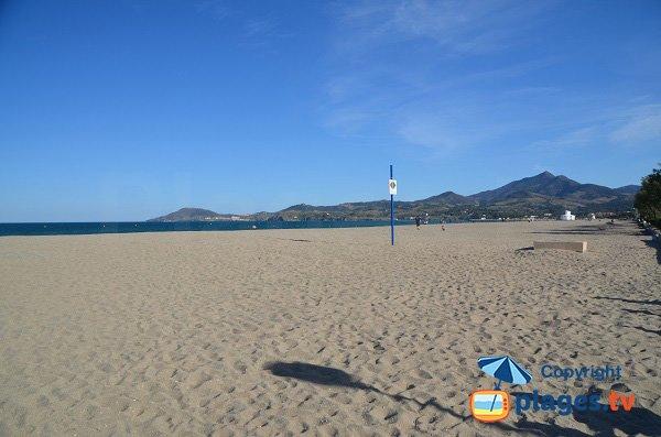 Photo de la plage des Pins à Argelès