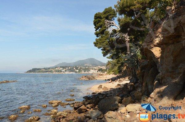 Baie des Salettes à proximité de la plage des Pins Penchés