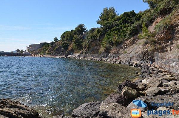 Sentier du littoral de la Mitre à Pipady - Toulon