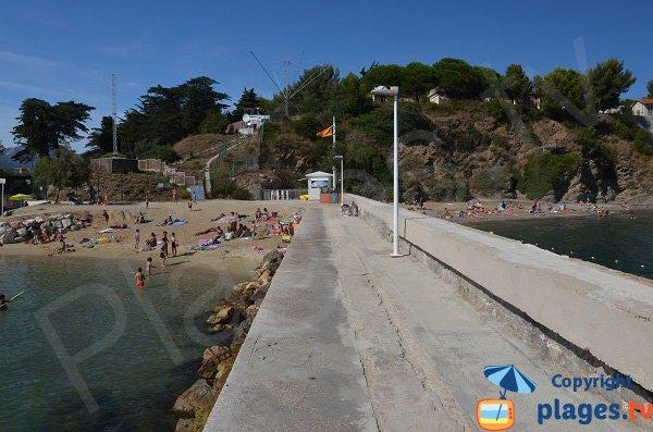 Photo de la plage de Pipady à Toulon
