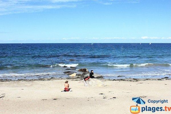 Yacht club beach in Ile d'Yeu