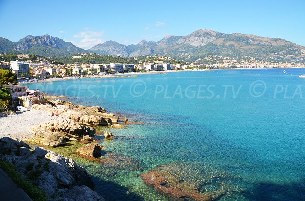 Photo of Roquebrune Cap Martin with the Pirates beach