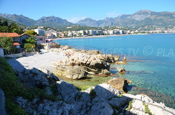 Pirates beach in Roquebrune Cap Martin in France