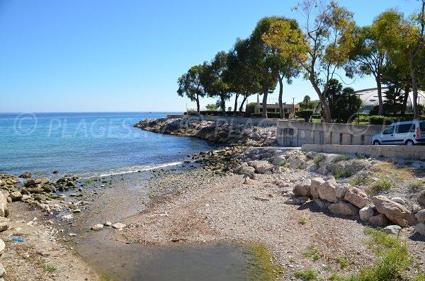 Photo de la plage autorisée aux chiens à Roquebrune Cap Martin