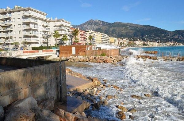 Dogs beach in Roquebrune Cap Martin in France
