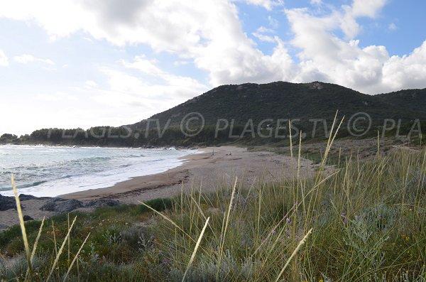 Plage de Piscona à Olmeto en Corse