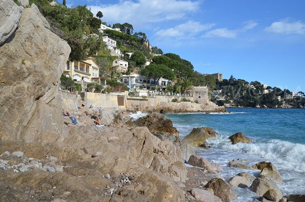 Nudist beach in Cap d'Ail - Monaco area