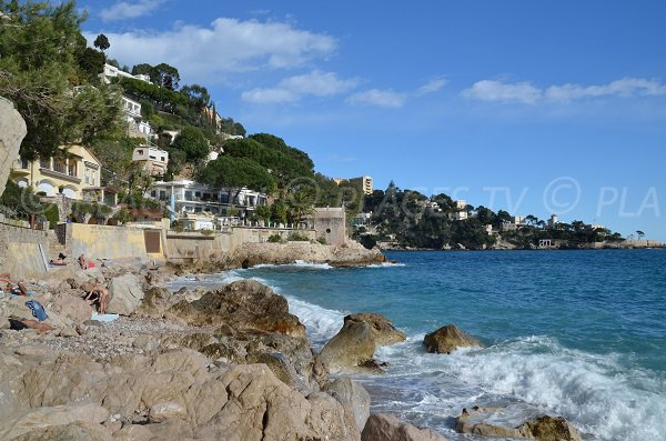 Nudist beach between Menton and Nizza