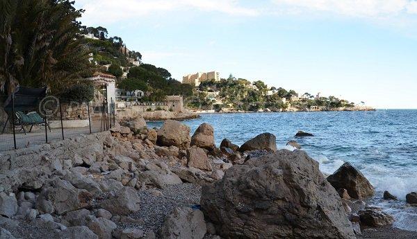 Pissarelles Strand rechts - Cap d'Ail