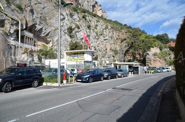 Kennzeichnung für den FKK-Strand Pissarelles in Cap d'Ail